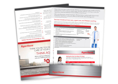 Hypertherm Self Mailing Brochure with Pocket