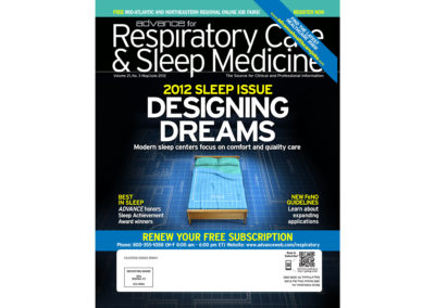 Advance for Respiratory Care and Sleep Medicine, Cover Design and Illustration