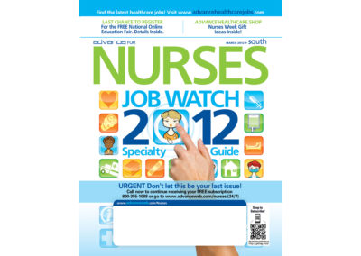 Cover Design and Illustration, Advance for Nurses Job Watch Issue